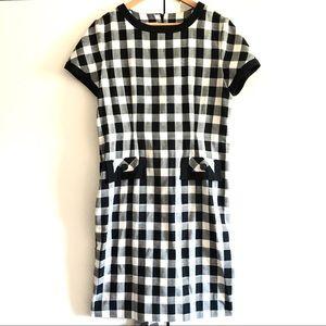 LESLIE FAY Checkerboard Midi DRESS